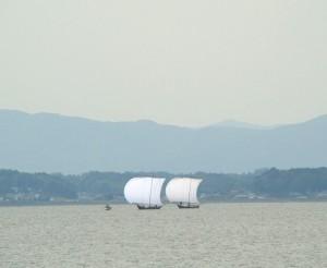 帆引き船 霞ヶ浦